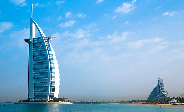 Burj Al Arab, Dubai, United Arab Emirates - Photo: Joi Ito via Flickr, used under Creative Commons License (By 2.0)