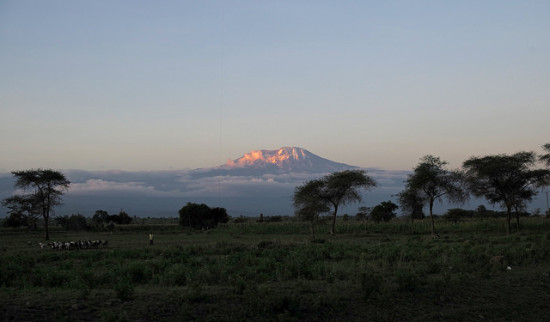 Sunset, Mt. Kilimanjaro, Tanzania - Photo: Roman Boed via Flickr, used under Creative Commons License (By 2.0)