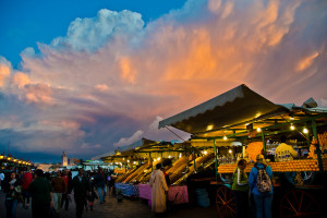 Djemaa el Fna at Sunset, Marrakech, Morocco - Photo: Michael Camilleri via Flickr, used under Creative Commons License (By 2.0)