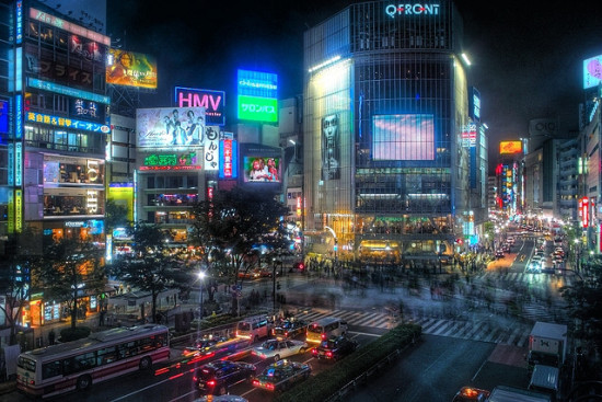 Shibuya, Tokyo, Japan - Photo: Guwashi999 via Flickr, used under Creative Commons License (By 2.0)