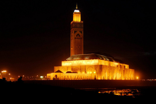 Hassan II Mosque, Casablanca, Morocco - Photo: Andrzej Wójtowicz via Flickr, used under Creative Commons License (By 2.0)