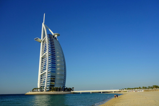 Burj Al Arab, Dubai, United Arab Emirates - Photo: Brandon via Flickr, used under Creative Commons License (By 2.0)