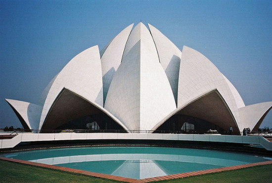 The Lotus Temple, New Delhi, India - Photo: Nam via Flickr, used under Creative Commons License (By 2.0)